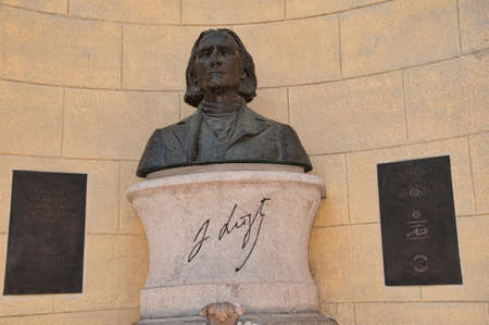 liszt: memorial to Franz Liszt in Budapest Hungary