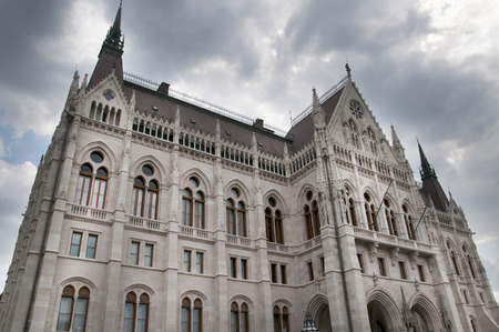 Houses of Parliament by the River Danube in Budapest Hungar