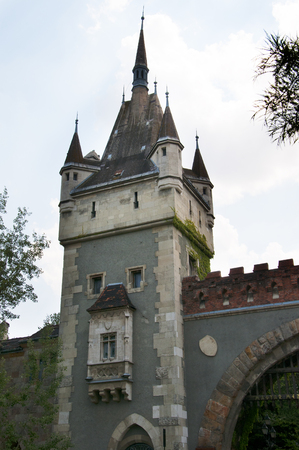 Vajdahunyad Castle in the City Park in Budapest Hungary
