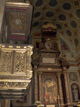 carlos: Interiors of the twin Churches of San Carlos and Santa Cristina in Turin Italy