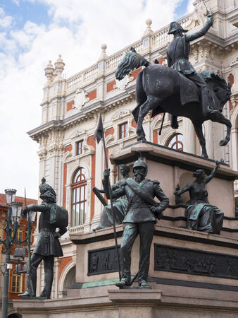 risorgimento: Statues outside the Museum of the Risorgimento in Turin Italy