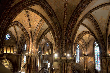 franz: The lavish highly decorated interior of St Matthias Cathedral in Budapest where all the Kings of Hungary have been crowned