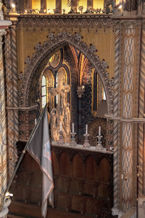 sissy: The lavish highly decorated interior of St Matthias Cathedral in Budapest where all the Kings of Hungary have been crowned
