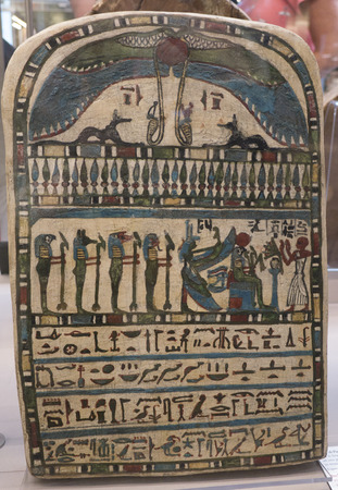 stele: Stele in the Egyptian Museum in Turin, the largest Egyptian collection outside Egypts Cairo Museum Editorial