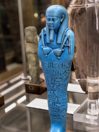 Ushabti Figure in the Egyptian Museum in Turin, the largest Egyptian collection outside Egypt?s Cairo Museum