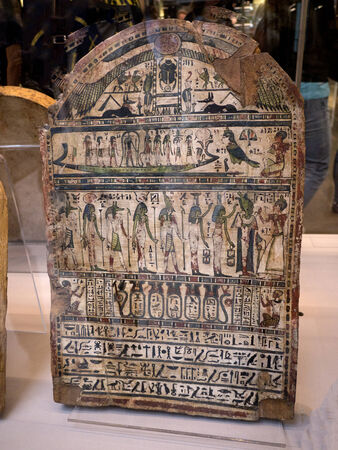 stele: Stele in the Egyptian Museum in Turin, the largest Egyptian collection outside Egypt?s Cairo Museum Editorial