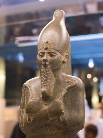 Figure of Pharaoh in the  Egyptian Museum in Turin,Italy