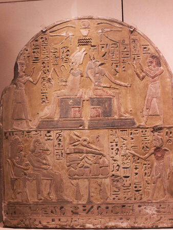 stele: Stele in the Egyptian Museum in Turin, Italy Editorial