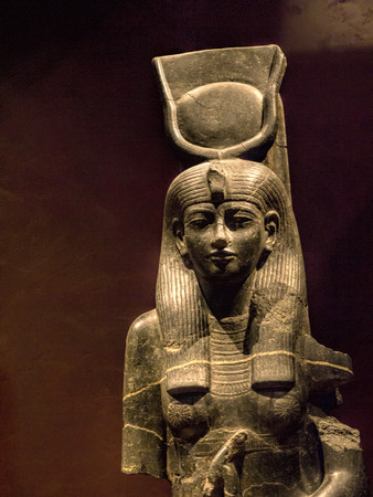 Goddess Hathor in the  Egyptian Museum in Turin,Italy Editorial