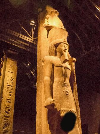 Gigantic Statues of Egyptian Pharoahs in Turin Italy