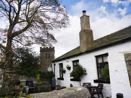 schoolhouse: Schoolhouse in the Graveyard in Newchurch in Pendle lancashire