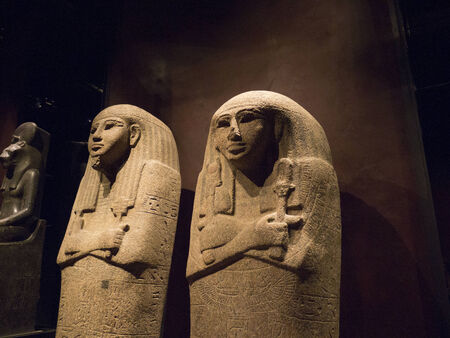 Pharaoh in the  Egyptian Museum in Turin, Italy