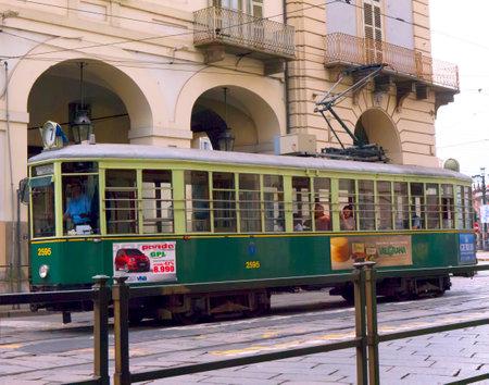 Tram in Turin Italy