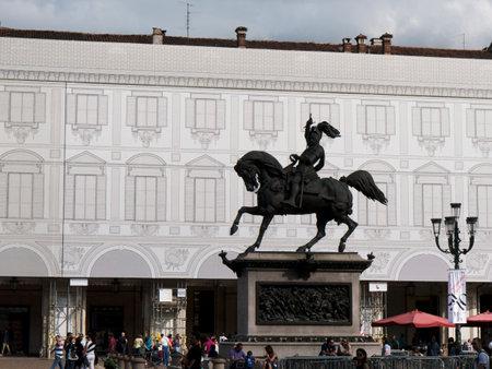 carlos: Statue in the Piazza San Carlos Turin Italy