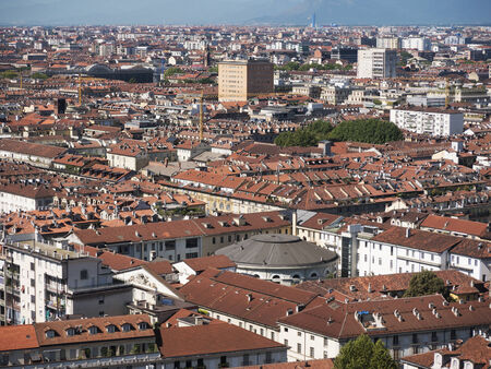 View of the city from the Mole in Turin Italy Editorial