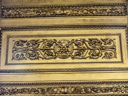 Wall panel in the Royal Palace in Turin Italy