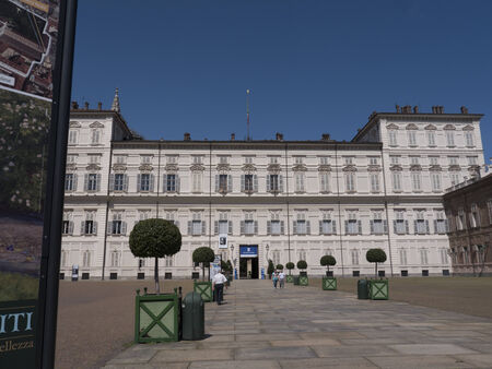 reale: the Royal Palace or Palazzo Reale in Turin Italy
