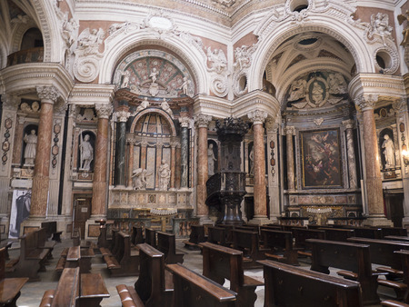 baptist: Church of St John the Baptist in Turin Italy Editorial
