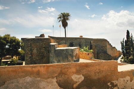 alcazaba: The Alcabazar Fortress in Malaga Spain.Originally, the Alcazaba defended the city from the incursions of pirates.