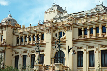Ornate Buildings in Malaga Spain