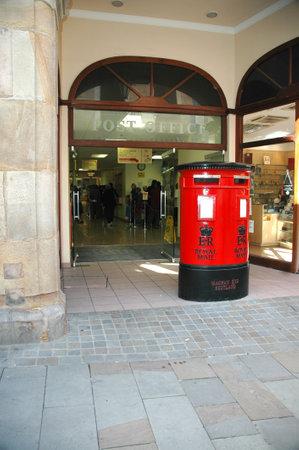 garrison: Shopping street on Gibraltar. Gibraltar is known colloquially as Gib or The Rock