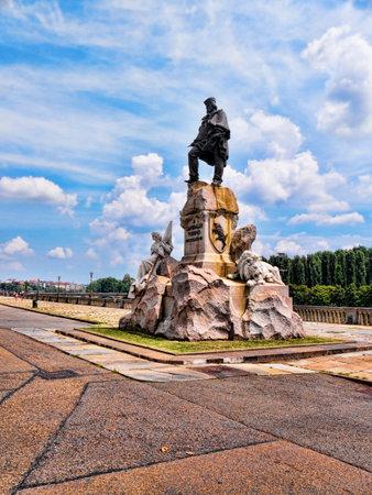 garibaldi: Statue to the Revolutionary leader Garibaldi in Turin Italy Editorial