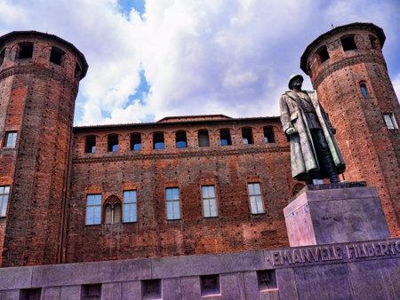 castello: Sculpture in Turin Castello Square Italy