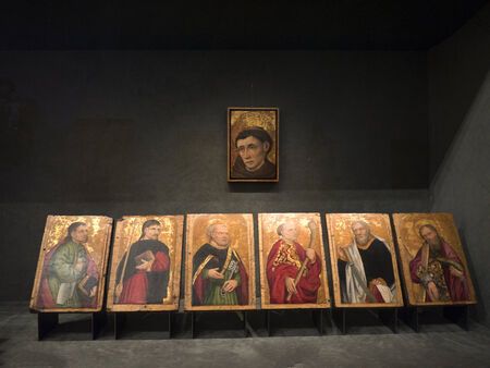 Exhibits in a religious Museum in Turin Italy