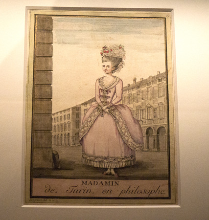 Old prints of the Madama in Turin Italy