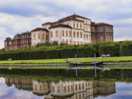 reale: The Fountains at the Venaria Reale or the Reggia a royal hunting lodge on the outskirts  of Turin Italy