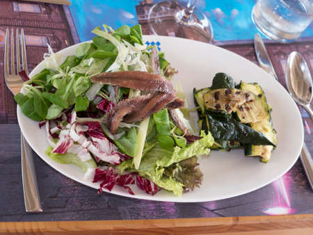 The  Restaurant food at the Venaria Reale or the Reggia a royal hunting lodge on the outskirts  of Turin Italy photo