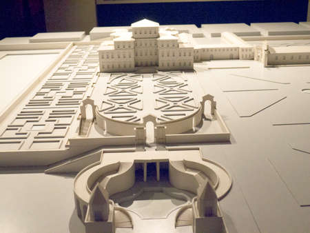 reale: Model of Venaria Reale or the Reggia a royal hunting lodge on the outskirts  of Turin Italy Editorial