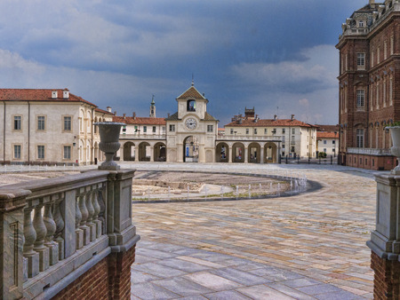 reale: The Fountains of the Venaria Reale or the Reggia a royal hunting lodge on the outskirts  of Turin Italy