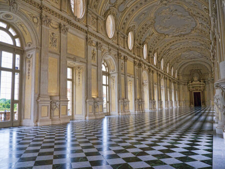 The Venaria Reale or the Reggia a royal hunting lodge on the outskirts  of Turin Italy