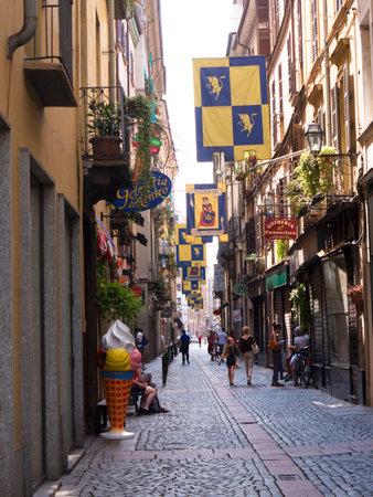brenda kean: The old city of narrow streets in Turin Italy