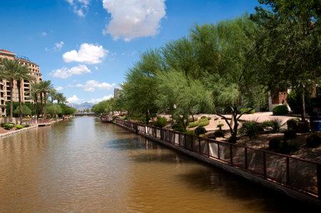 scottsdale: River Through Scottsdale near Phoenix Arizona USA Editorial