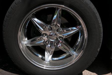 brenda kean: Famous Foose Legend 6 wheels on car in Scottsdale near Phoenix Arizona USA Arizona USA Editorial