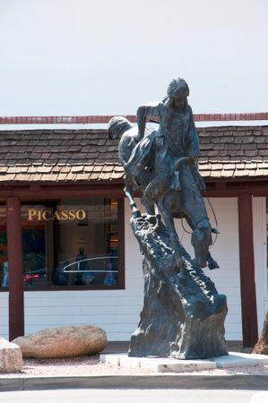 horseman: Statua di cavaliere a Scottsdale Arizona USA