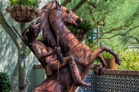 scottsdale: Statue of horseman in Scottsdale Arizona USA