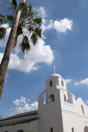 Church in Spanish Mission Style in Scottsdale Arizona USA Editorial