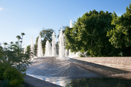 Fountains in Park in Scottsdale Arizona USA Editorial