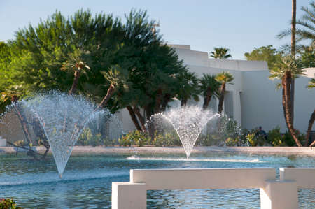 scottsdale: Fountains in Park in Scottsdale Arizona USA Editorial