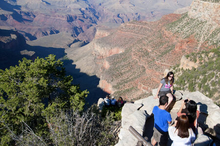 geologic: Grand Canyon View from the South Rim in Arizona USA Editorial