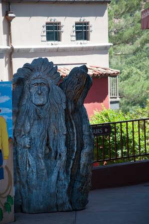 sedona: Sedona carving in Arizona USA