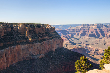 mesas: Grand Canyon View from the South Rim in Arizona USA Stock Photo