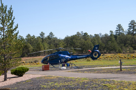 Helicopter flights over the Grand Canyon in Arizona USA