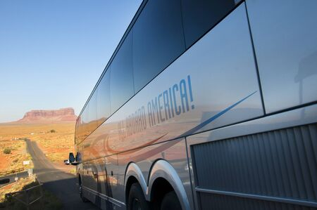 john wayne: Motor Coach in Monument Valley Arizona USA