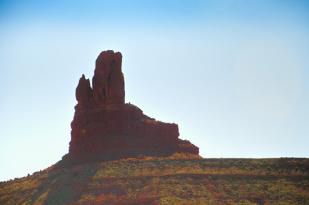 john wayne: Owl Butte in Monument Valley on Navajo Tribal Land Arizona USA Stock Photo