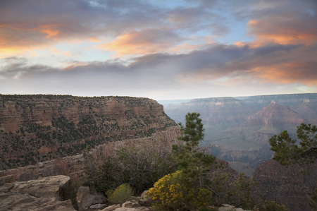 Sunset over South Rim Grand Canyon Arizona USA photo