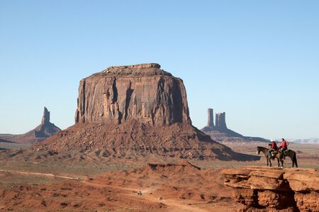 john wayne: The Buttes of Monument Valley in Navajo Tribal Lands of Arizona and Utah USA